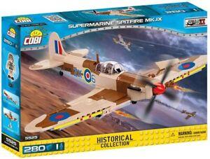 COBI 5525 WWII Britain Supermarine Spitfire MK.IX Desert Fighter 280 pcs NEW
