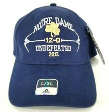 Adidas Notre Dame Fighting Irish Fitted Baseball Hat Cap, Size L/XL, Blue, NWT