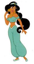 "1.25X3"" Jasmine glitter IRON On Heat TRANSFER Aladdin princess teal outfit"
