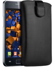 mumbi Ledertasche für Samsung Galaxy S2 Hülle Leder Tasche Etui Wallet Case