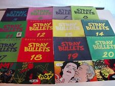 (LOT OF 14) STRAY BULLETS COMIC BOOKS by David Lapham 1st Printings Included