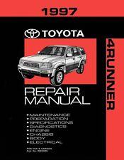 1997 Toyota 4-Runner Shop Service Repair Manual Book Engine Drivetrain OEM