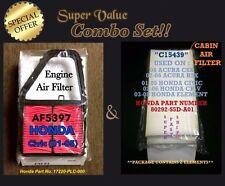 Engine & Cabin Air Filter for 01 02 03 04 05 HONDA CIVIC AF5397 C15439