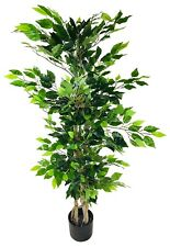 Ficus Tree Artificial Plant Natural Wood Trunk Potted Indoor Outdoor 125 cm