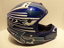Fox Racing Blue V1 Pilot Helmet Adult Dirt Bike Offroad MX Motorcycle ATV Size M