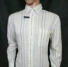 Gant Key West Mens Shirt Linen Oxford Regular Fit White Chalk Stripe New RRP£100