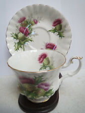 ROYAL ALBERT - Highland Thistle Tea Cup and Saucer - Classic Shape
