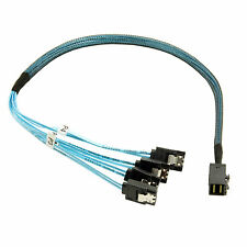 Internal Mini SAS SFF-8643 Host to 4 SATA 7pin Target Hard Disk  Data Cable