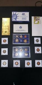 coin LOT collection US PROOF SET gold plate wheat Buffalo nickel NO JUNK DRAWER1