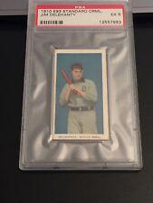 1910 E93 Standard Caramel baseball card - Detroit Tigers Jim Delehanty - PSA 5