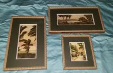 (Set of 3) E G Barnhill Framed Hand Colored Art Prints of Florida Scenes