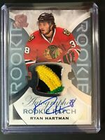 2015-16 The Cup Ryan Hartman Rookie 4 Color Patch Auto Blackhawks /249