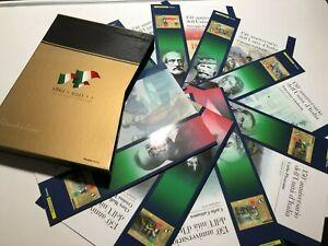 2011 Poste Italiane 8 Folders Filatelici 150° Unita' D'Italia in Cofanetto