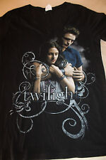 Twilight Women's Black V Neck T Shirt Size Large Bella Swan Edward Cullen Bay