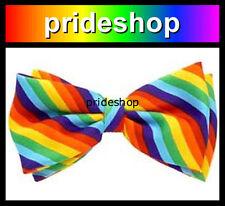 Rainbow Bow Tie Unisex Pre Tied Wedding Costume Party Lesbian Gay Pride #561