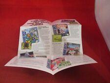 Konami Nintendo Game Boy Foldble Promo Poster Insert ONLY Castlevania TMNT Bucky