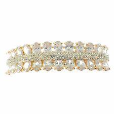 USA BARRETTE use Swarovski Crystal Hair Clip Hairpin Elegant SIMPLE Gold K07