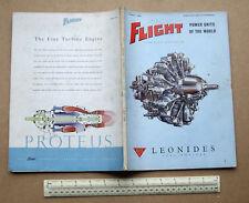 "1954 ""Flight"" Magazine. Power Units of the World Special (Piston Jet & Rocket)"