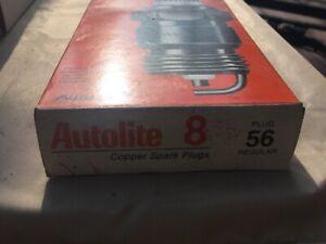 NEW Set of 8 Autolite 56 Spark Plugs NIB!