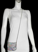 WHITING & DAVIS Multi-Color Sparkling Mesh Cross Body Handbag Shoulder Bag Purse