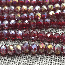 DIY 6mm 50pcs Crystal Flat Beads Spacer Loose Beads Jewelry Making wholesale#34