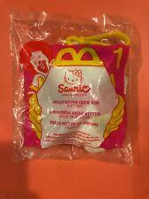 2000 Hello Kitty Crew Kid McDonalds Happy Meal Toy Sanrio #1 Plush Charm NEW NIP