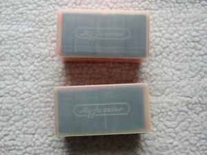 94 Agfacolor vintage white/blue plastic colour slide mounts in 2 orange boxes