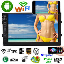 Android 8.1 Car Stereo Head Unit GPS Nav Radio 2Din 7 Inch HD 1080P WIFI/MP5/FM