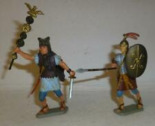 TWO RARE FRENCH STARLUX VINTAGE PLASTIC ROMAN SOLDIERS, 60mm SCALE  - 1960'S
