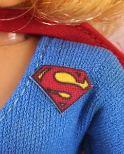 "Repro Mego 8"" Supergirl Action Figure Part - Pre-Cut FABRIC Sticker,Emblem,Decal"