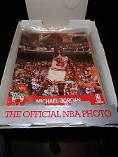 1990 NBA Hoops Action Photos 8x10 Glossy FULL Box (50 PHOTOS) Jordan Bird-RARE