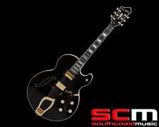 Hagstrom HJ500BLK Gloss Black Jazz Full Hollow Body Electric Guitar