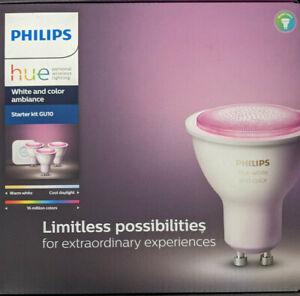 Philips Hue White & Color Ambiance GU10 LED 3-er Starter Set, dimmbar [EEK: G]