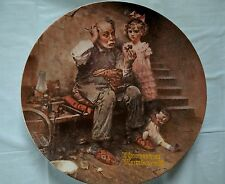Norman Rockwell Plate Knowles Collector The Cobbler Handmade Limited Numbered