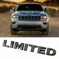 2x Black High Quality LIMITED 3D Decal Emblemfor JEEP Grand Cherokee badges Lu