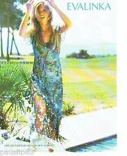 PUBLICITE ADVERTISING 116  2004  Evalinka  pret à porter   robe de plage