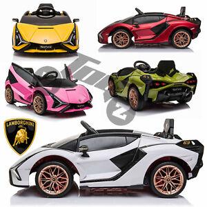 Licensed Lamborghini SIAN 2.4G Remote Latest Ride on Kids Car 12V Battery