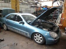 2001 MERCEDES S CLASS W220 S500 113960 ENGINE BREAKING WHOLE CAR LIGHT BLUE