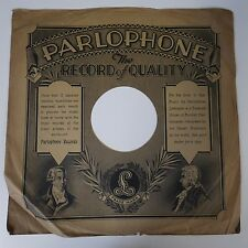 "12"" 78rpm paper gramophone record sleeve PARLOPHONE the record of quality"