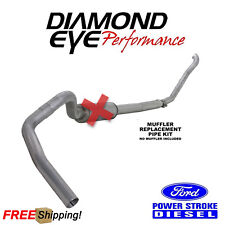 Diamond Eye 4 Inch Turbo Back Exhaust For 1994-1997.5 Ford SuperDuty 7.3L Diesel