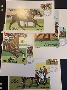 1978 — HORSE RACING— Set of 4 Maxi Cards — LOOSE (#1034 set)