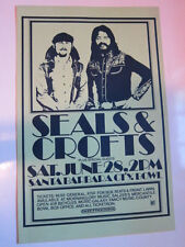 SEALS & CROFTS Santa Barbara green concert poster 11x17