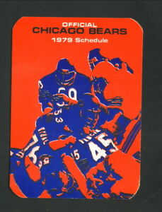 Chicago Bears--1979 Pocket Schedule--American National Bank