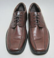 BOSTONIAN Men's 10M Brown Leather Bicycle Toe Lace Up Dress/Casual Oxford Shoes