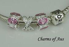 GENUINE Pandora bracelet all sizes + 3 stunning charms. Valentine's Day Special