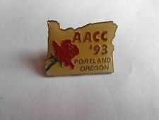 Vintage 1993 AACC American Assn Community Colleges Portland OR Event Pin Pinback