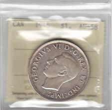 1946 Canada Silver Dollar - ICCS AU-58 Semi-Key Date Cert#XTO483