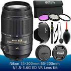 Nikon 55-300mm f/4.5-5.6G ED VR AF-S DX Nikkor Zoom Lens + Accessory Kit