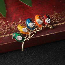 Delicate Rhinestone Bird Animal Enamel Brooch Pin Women Fashion Jewelry Gifts