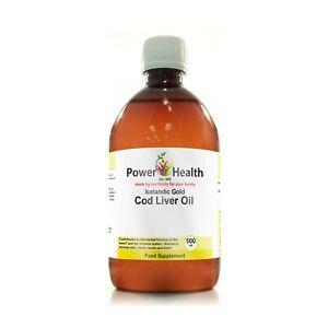 Power Health Icelandic Gold Cod Liver Oil | 500ml (250+ SOLD)